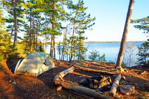 Camping in Canada's wilderness